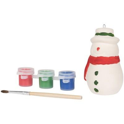 Раскрась снеговика