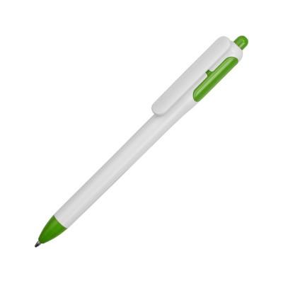 Ручка шариковая с белым корпусом и цветными вставками